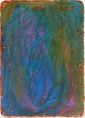 Handmade blue and brown gouache texture — Stock Photo