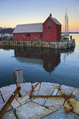 Famous fishing shack — Stockfoto