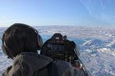 Küçük bir uçak pilotu — Stok fotoğraf