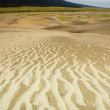 Thunderstorm over sand dunes — Stock Photo