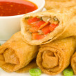 Stock Photo: Chinese Spring Rolls