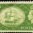 Stock Photo: Old English Postage Stamp