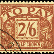 Royalty-Free Stock Photo: Old English Postage Due Stamp