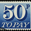 English Postage Due Stamp - Stock Photo