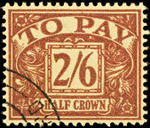 Old English Postage Due Stamp — Stock Photo