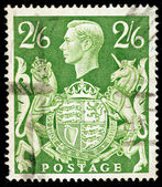 Old English Postage Stamp — Stock Photo