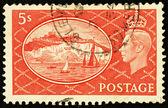 Stary polski znaczek — Zdjęcie stockowe