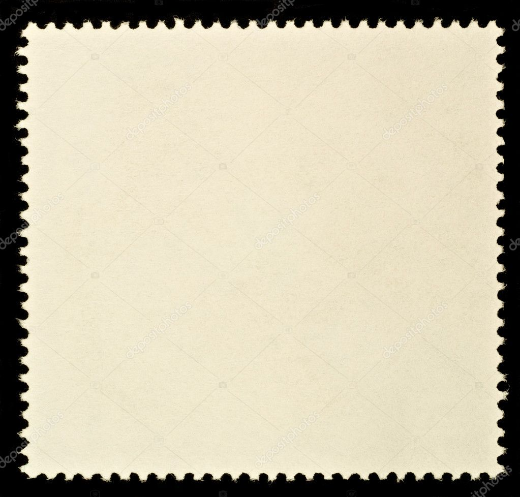 Blank Postage Stamp Framed by Black Border — Photo #2272317