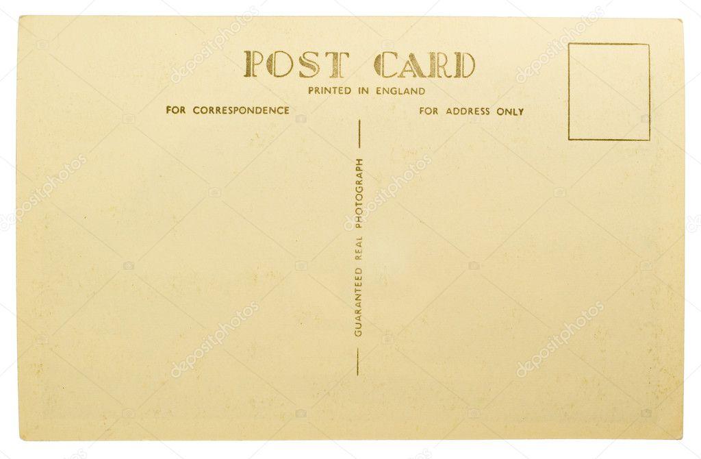 blank postcard template .