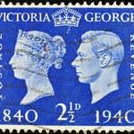 Постер, плакат: Old British Postage Stamp