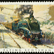 English Steam Train Postage Stamp — Stock Photo #2343739