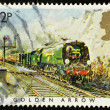 Stock Photo: English Steam Train Postage Stamp