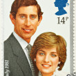 Prince Charles Lady Diana Wedding Stamp — Stock Photo