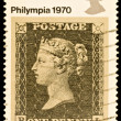 Old British Postage Stamp - Stock Photo