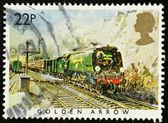 English Steam Train Postage Stamp — Stock Photo