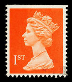English First Class Postage Stamp — Stock Photo