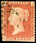 Old British Victorian Postage Stamp — Stock Photo