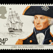 Stock Photo: British Navy Postage Stamp