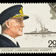 British Navy Postage Stamp — Stock Photo #2396214