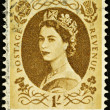 Vintage British Postage Stamp — Stock Photo