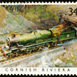 Stock Photo: British Steam Train Postage Stamp