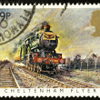 Royalty-Free Stock Photo: British Steam Train Postage Stamp