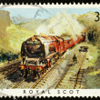 British Steam Train Postage Stamp — Stock Photo #2396621