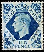 Vintage British Postage Stamp — Stock Photo