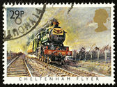 British Steam Train Postage Stamp — Stock Photo