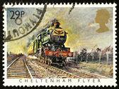 British Steam Train Postage Stamp — Stock Photo