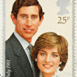Lady Diana Prince Charles Wedding Stamp - Stock Photo