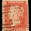 Stock Photo: Antique VictoriEnglish Postage Stamp