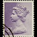 English Postage Stamp — Stock Photo
