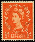 Vecchio francobollo inglese — Foto Stock