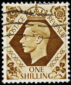 Vintage English Postage Stamp — Stock Photo