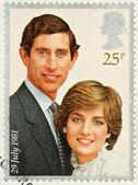 Lady Diana Prince Charles Wedding Stamp — Stock Photo