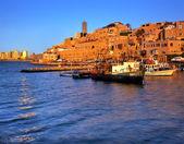Port in old Jaffo. — Stock Photo