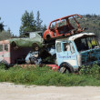 Stock Photo: Scrap Yard Vehicles