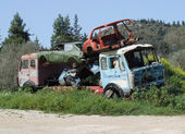 Scrap Yard Vehicles — Stock Photo