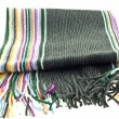 Wool multicolor striped scarf - Stock Photo