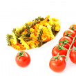 Pasta and tomato bunch — Stock Photo