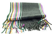 Wool multicolor striped scarf — Stock Photo