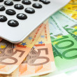 Euro notes with calculator — Stock Photo #2292044