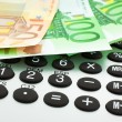 Euro notes with calculator — Stock Photo #2292048