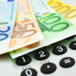 Euro notes with calculator — Stock Photo #2292055