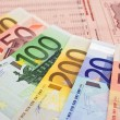 Euro notes on financial newspaper — Stock Photo #2292211