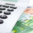 Euro Notes with calculator — Stock Photo #2292370