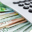 Euro Notes with calculator — Stock Photo #2292393