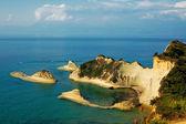 Vista de la isla kerkira — Foto de Stock