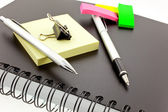 Organizer, post-its, pen, pencil and st — Stok fotoğraf